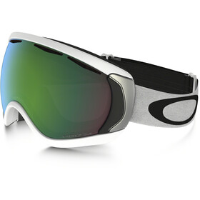 Oakley Canopy Lunettes de ski, matte white/w prizm jade iridium